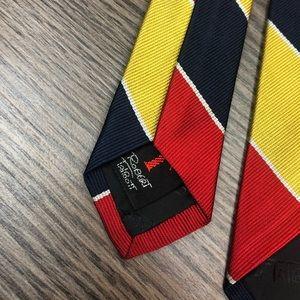 Robert Talbott Accessories - Robert Talbott Red, Gold, Navy & White Stripe Tie